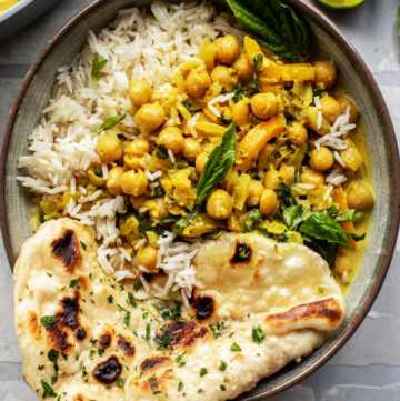 Basil Chickpea Coconut Curry